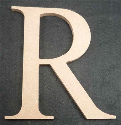Wooden Alphabet Letter Medium R