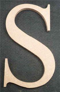 Wooden Alphabet Letter Medium S