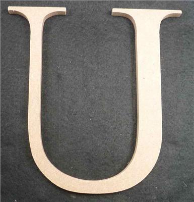 Wooden Alphabet Letter Medium U