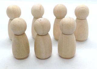Wooden People - Girls 34.5x14mm Pkt 7