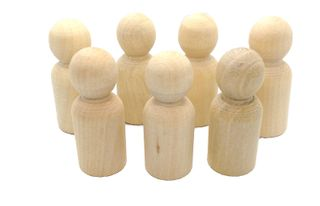 Wooden People - Boys 44x15.5mm Pkt 7