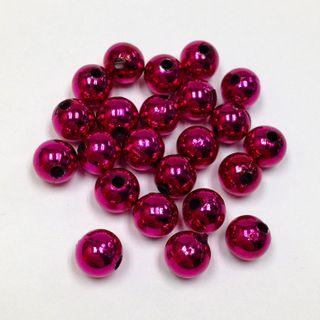 Pearl Beads 10mm Metallic Fuchsia 250g