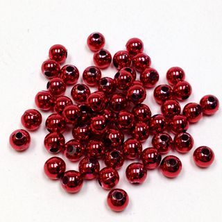 Pearl Beads 10mm Metallic Red 250g