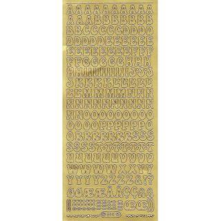 Stickers Alphabet Upper Case Gold