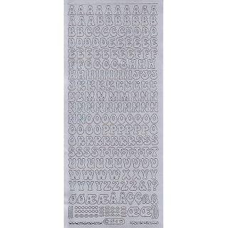Stickers Alphabet Upper Case Silver