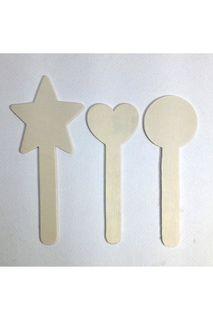 Heart/Star/Circle Topped Craft Stk Pkt 9