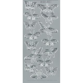 Stickers Butterflies SiIver