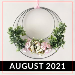 Floral wreath made from Value Craft Metal Hoops