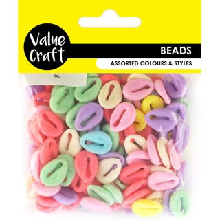 Assorted Shapes Plastic Beads