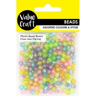 Alphabet & Heart Plastic Beads Multi 30g