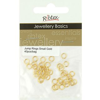 Jump Rings 4mm Gold 40Pcs