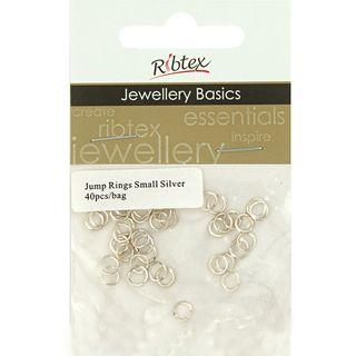Jump Rings 4mm Silver 40Pcs