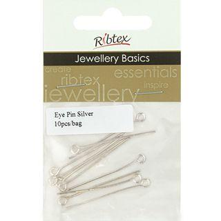 Eye Pins 35mm Silver 10Pcs
