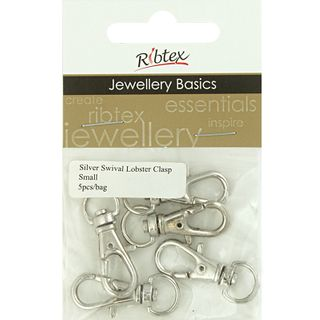 JF CLASP LOBSTER SWIVEL 30MM SILVER 5PC