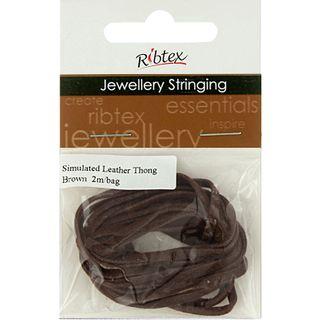 Jf Thonging Sim Leather Brown 2M