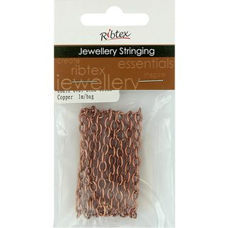 Chain Straight Oval Link 6x3mm Copper 1m