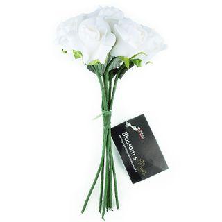 FLOWER FOAM ROSE 7H WHITE 1BCH