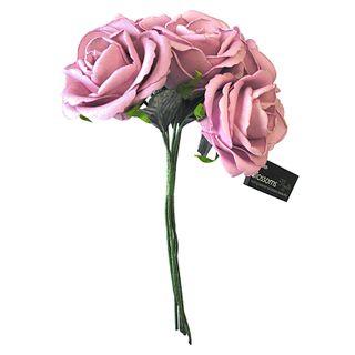 FLOWER FOAM ROSE 5H LAVENDER 1BCH