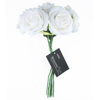 FLOWER FOAM ROSE 5H WHITE 1BCH