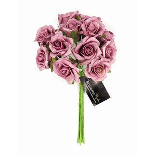 FLOWER FOAM ROSE 12H LAVENDER 1BCH