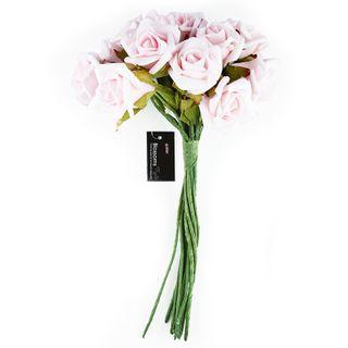 FLOWER FOAM ROSE 12H PINK 1BCH
