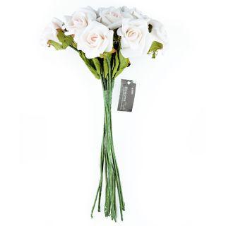 FLOWER FOAM ROSE 12H PALE PINK 1BCH