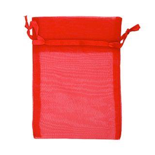 ORGANZA BAG SMALL H-SELL RED 10PCS