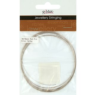JF MEMORY NECK WIRE 1MM SILVER 15G