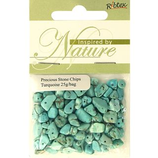 BEAD PRECIOUS STONE CHIPS TURQUOISE 25G