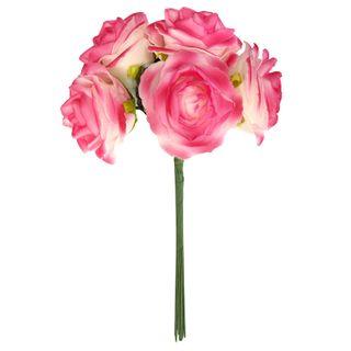FLOWER FOAM ROSE 5H HOT PINK 1BCH
