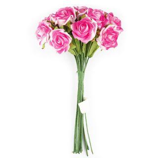 FLOWER FOAM ROSE 12H HOT PINK 1BCH