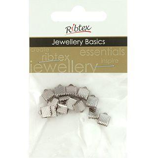 Jf Acc Ribbon Clamp 5Mm Silver 12Pcs