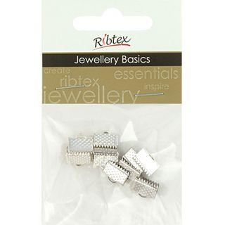 Jf Acc Ribbon Clamp 10Mm Silver 10Pcs