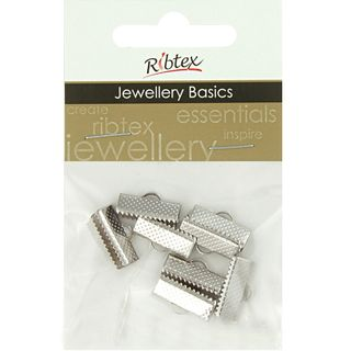 Jf Acc Ribbon Clamp 15Mm Silver 8Pcs