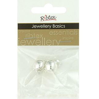 JF EARRING CLIP ON SMALL SILVER 2PCS