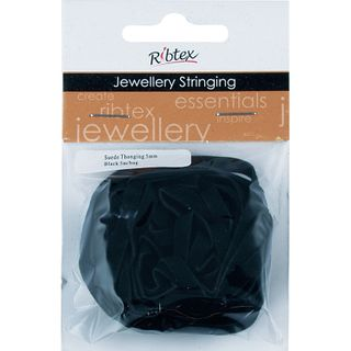 JF SUEDE THONGING 5MM BLACK 5M