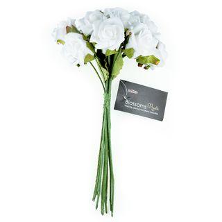 FLOWER FOAM ROSE 12H ICEBERG 1BCH