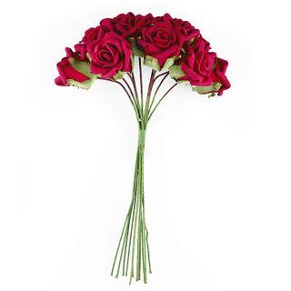 FLOWER FOAM ROSE 12H RED 1BCH