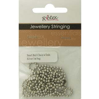 Chain Ball With Ends Silver 1m