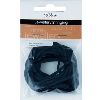 JF SUEDE THONGING 2MM NAVY 4M