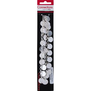 JF CHAIN CHUNKY-DISK CHARMS SILVER 0.5M