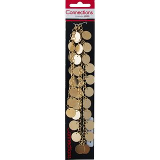 JF CHAIN CHUNKY-DISK CHARMS GOLD 0.5M