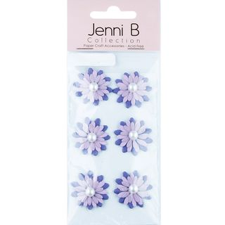 JB PAPER FLOWER PEARL PP 6PCS