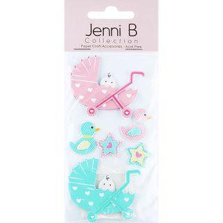 Jenni B Baby Prams Pink Mint 6Pcs