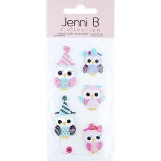Jenni B Baby Owls 6Pcs