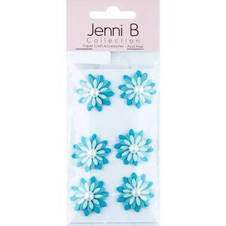 JB PAPER FLOWER PEARL BL 6PCS