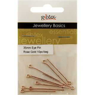 Eye Pins 35mm Rose Gold 10Pcs