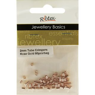 JF TUBE CRIMPERS 2MM ROSE GOLD 80PC