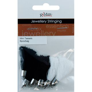 Jf Tassel Mini White-Black-Brown 6Pc