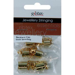 JF NECKLACE CAP PLAIN GOLD 3PC